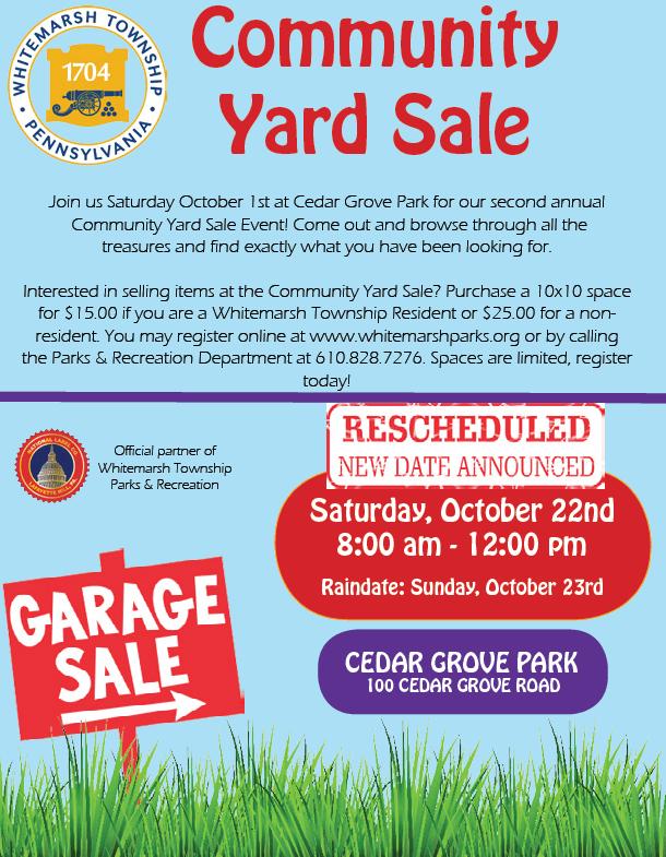 Community Yard Sale 2016 -updated