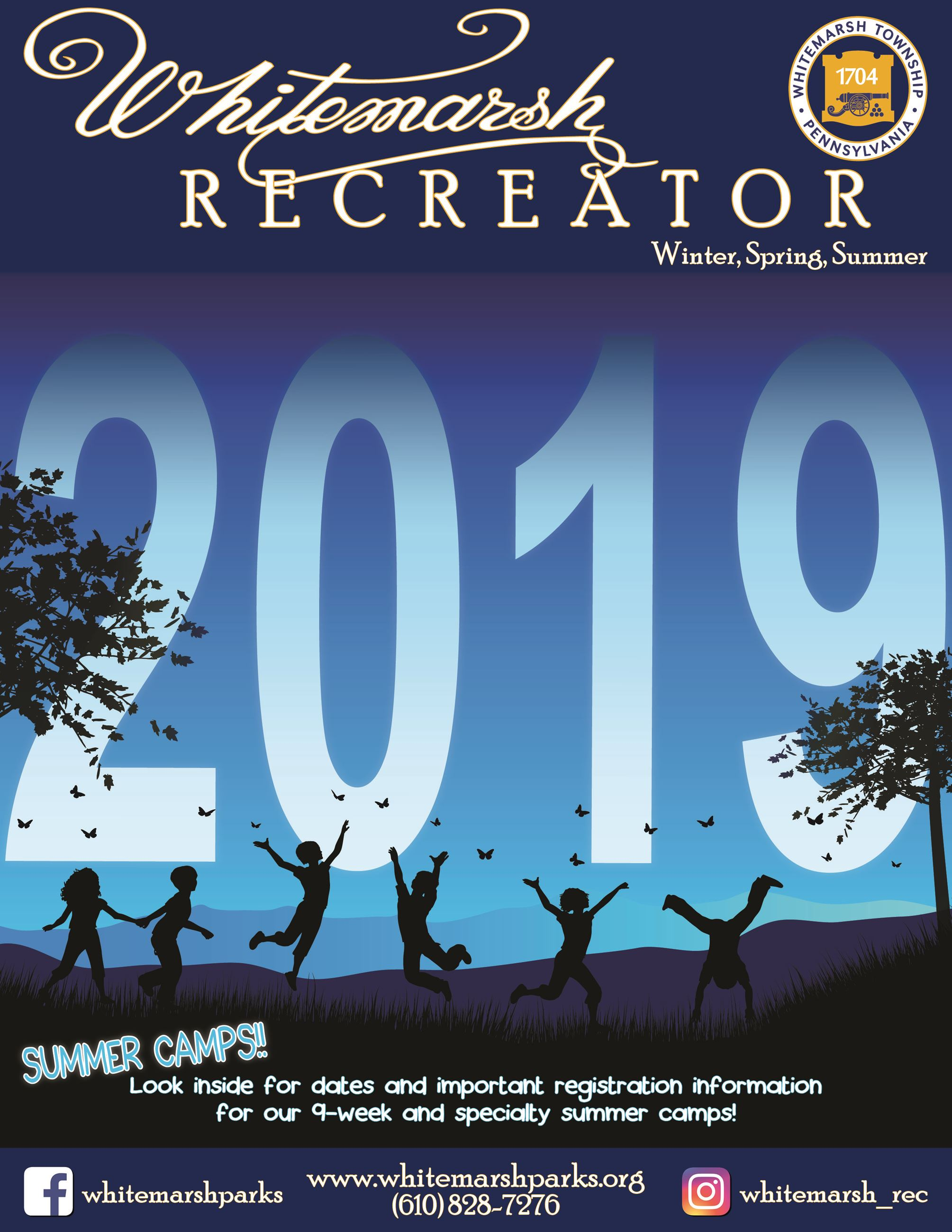 Winter, Spring, Summer 2019 Recreator Cover